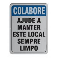 AL - 3010 - COLABORE AJUDE A MANTER ESTE LOCAL LIMPO