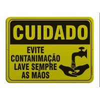 AL - 3071 - CUIDADO - Evite contaminação - Lave sempre as mãos