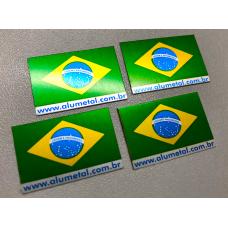 Bandeira do Brasil personalizada com o site da sua empresa