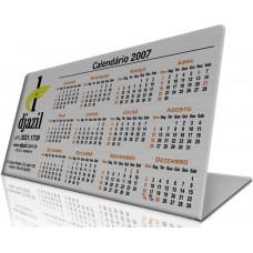 """Calendário 4 em alumínio impresso - DOBRA EM FORMATO """"L"""""""