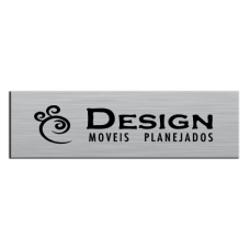 Etiqueta de Móveis 14 alumínio impresso em 1 cor