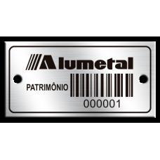 Etiqueta de patrimônio - 40x20mm - código de barras - com furos