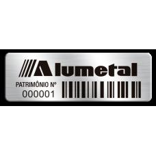 Etiqueta de patrimônio - 45x15mm - Código de Barras - Com fita