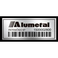 Etiqueta de patrimônio - 50x20mm - Código de Barras - Com fita