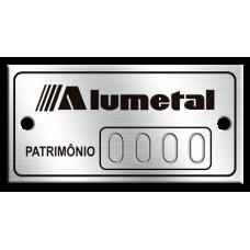 Etiqueta de patrimônio - 40x20mm - puncionado - com furos