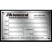 Placa de Identificação em aço inox - 100x60mm