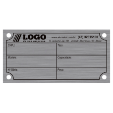 Placa de Identificação em alumínio - 60x30mm