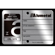 Placa de calibração ABNT NBR ISO 17025 frente e verso