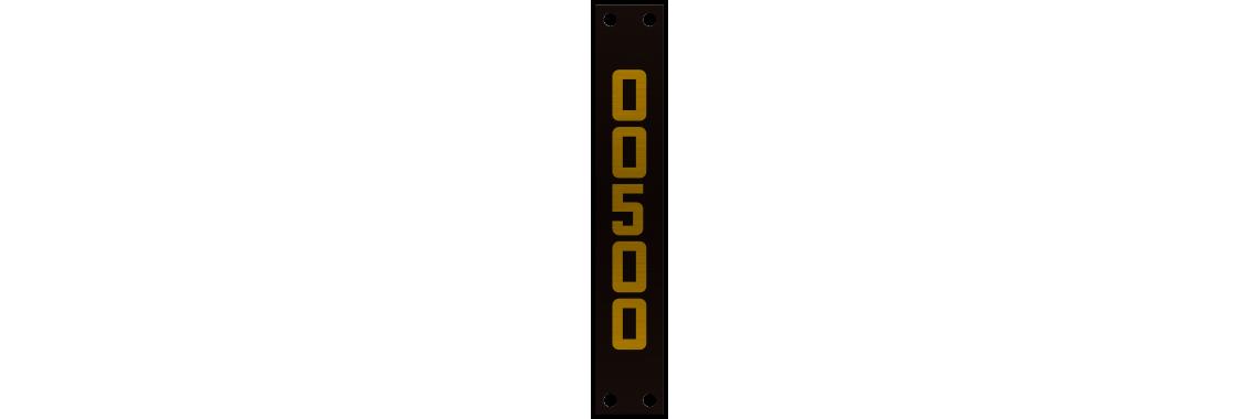Placa de Identificação de Poste - 50x300mm