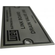 Placas de Transformadores 1 - em aço inox 304 gravado em baixo relevo