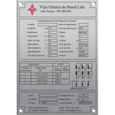 Placas de Transformadores 5 - em alumínio gravado em baixo relevoo