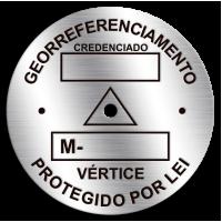 Placa de Georreferenciamento - Diâmetro 55 mm